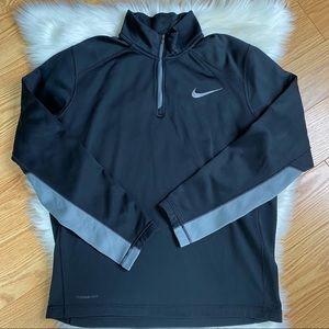 Nike Therma-Fit Black Logo Quarter Zip Pullover M
